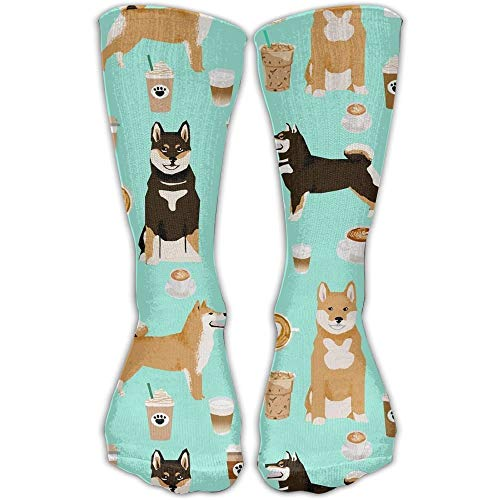 Bag hat Cool Crazy Shiba Inu Coffee Print Dog And Coffees Pattern Novelty Funny Cotton Crew Dress Socks Crazy Horse Gap