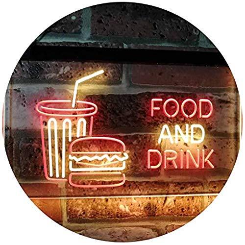 DAKANG 16 '' x 12 '' Neue ultrahelle LED-Neonreklame - Speisen und Getränke Café-Restaurant-Küchenanzeige (400mm x 300mm)