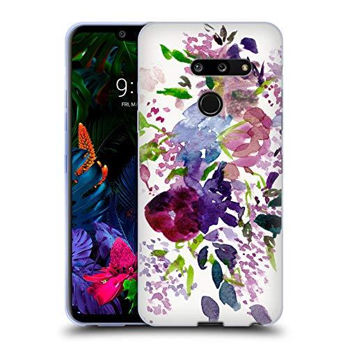 Head Case Designs Offizielle Mai Autumn Lilien Blumiges Bouquet Soft Gel Huelle kompatibel mit LG G8 ThinQ Mais Lilie