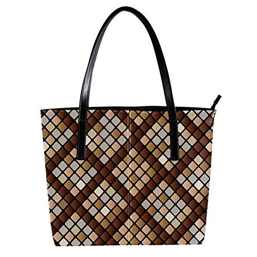 Women's Bag Shoulder Tote handbag with Python Snake Skin Pattern Print Zipper Purse PU Leather Top-handle Zip Bags -