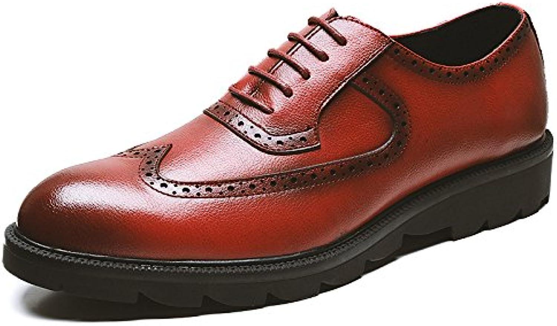Herren Schnürschuhe Derby Leder Formelle Brogues Klassisches Rotes Kleid Schuhe Schuhe Für Herren Business Schuhe