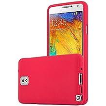 Cadorabo - Cubierta protectora para Samsung Galaxy NOTE 3 de silicona TPU en diseño Escarcha – Case Cover Funda Carcasa Protección en FROST-ROJO