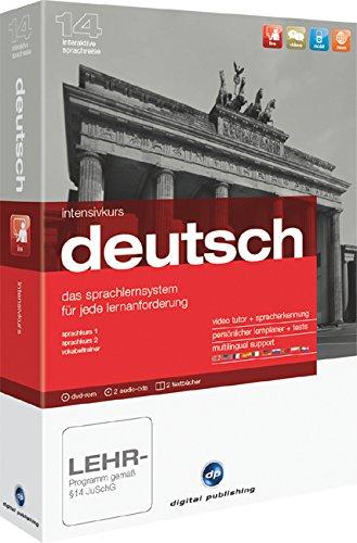 Intensivkurs Deutsch Version 14: Das Sprachlernsystem für Anfänger, Wiedereinsteiger und Fortgeschrittene. Niveau A1/B2. Sprachkurs 1, Sprachkurs 2, Vokabeltrainer
