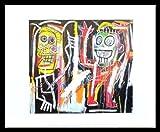 Jean-Michel Basquiat Poster Kunstdruck Bild Dustheads 1982 im Alu Rahmen schwarz 42x34cm - Germanposters