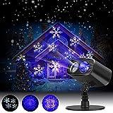 Luces de Proyector Navidad LED Nieve, Luz de Proyección Paisaje IP65 Impermeable Interior/ Exterior, Iluminacion Ambiente Jardín para Muro Decoración Fiesta Cumpleaños Año Nuevo, Boda, Navideña Party
