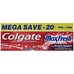 Colgate Max Fresh Toothpaste – 150 g (Buy 3 Get 1 Free, Peppermint Ice)
