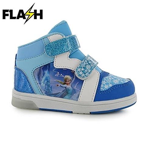 Character Light Up Hi Top Kinder Blink Schuhe LED Turnschuhe Leuchtend Sneaker Disney Frozen C9 (27)