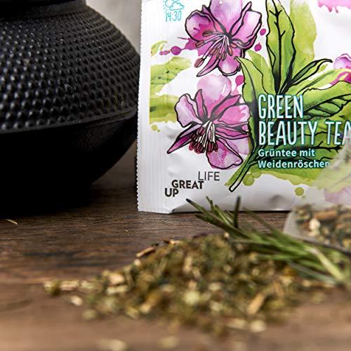 Green Beauty Tee – 30 Stück   Zur Begleitung einer Cleansing Diät   Abnehmen   Body-Cleanse   Vitalität   Basiche Ernährung   Basen Tee