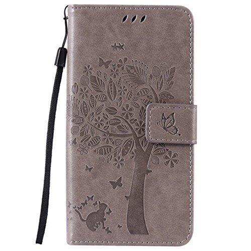 HUANGTAOLI Custodia in Pelle Portafoglio Flip Case Cover per LG K8 Smartphone,Display 5.0 Pollici(LG K350N)