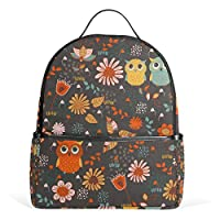 Autumn Animal Owl Floral Backpack for Women Girl Student Mini Fashion College Travel School Bag Small Bagpack