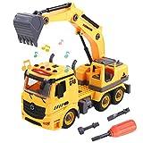 TONZE Macchinine Giocattolo Escavatore per Bambini-Camion Costruzioni Smontaggio Macchinine Veicoli Giochi Bambina 3 4 5 6 Anni Ragazza Ragazzo