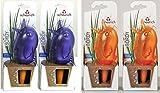 """Wasserspender, Bewässerungskugel, 4er Set """"Bördy"""" in verschiedenen Farben und Größen (15 cm, Violett / Orange)"""