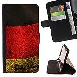 FJCases Deutschland Deutsch Flagge Alt Tasche Brieftasche Hülle Schale Standfunktion Schutzhülle für Samsung Galaxy S7 Active