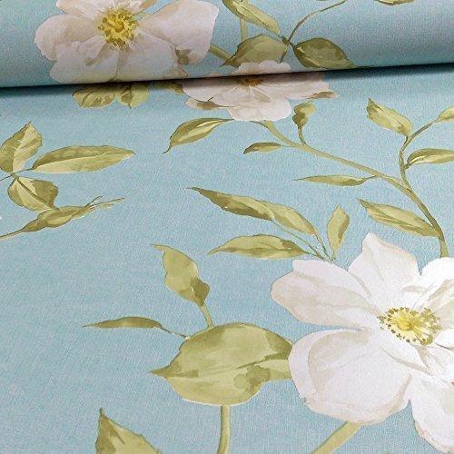 Preisvergleich Produktbild Grandeco Chloe Blumen Muster Floral Rose Motiv Tapete,  Metallic Teal A13703