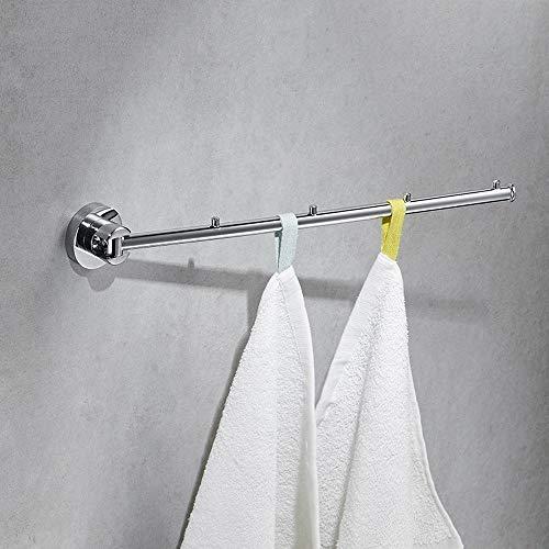Agaidu Kreative einfache Hotel Schaukel Kleiderbügel Rostschutz Multifunktions-Badezimmerrahmen Verchromtes Kupfer Bad Aktivitätshaken Moderner minimalistischer Haken ( Color : B ) -