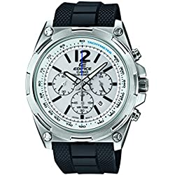 Edifice Men's Quartz Watch with White Dial Analogue Display and Black Resin Strap EFR-545SB-7BVCF