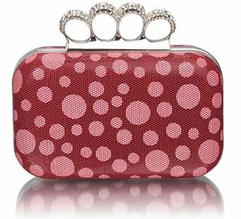 damen rote kristalle spots dots knuckle ringe damen. Black Bedroom Furniture Sets. Home Design Ideas