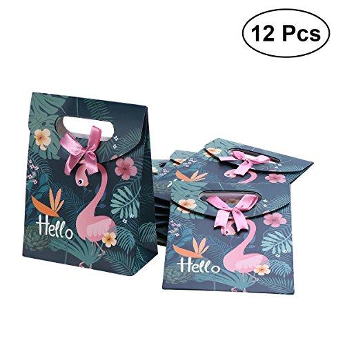 TOYMYTOY Pink Flamingo Papiertüten Süßigkeiten Geschenk Taschen Kinder Geburtstag Partytüten (1 Dutzend)