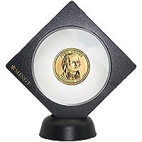 PCCB Medallón Challenge MONEDAS Expositor CARCASA SOPORTE CON SOPORTE REDONDO NEGRO Chip caja de presentación