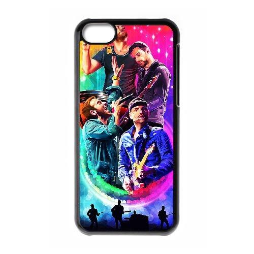Coldplay coque iPhone 5C Housse téléphone Noir de couverture de cas coque EBDXJKNBO17041