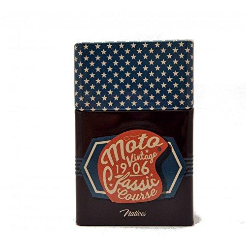 NATIVES Etui à Paquet de Cigarettes - Moto Vintage Zigarettenetui, 10 cm, Mehrfarbig (Multicolore)
