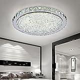 ETiME 72W Deckenleuchte Kristall LED Ø62cm Deckenlampe Rund Kaltweiß (6000K-6500K) Wohnzimmer Schlafzimmer Esszimmer Lampe (72W Ø62cm Kaltweiß)
