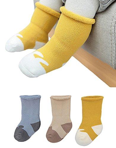 Weiche Baby Socken (Balovee Unisex Baby Dicke Socken Winter Weiche Baumwolle Warme Socke für Säuglingskleinkind 0-3years 3 Pairs (6-12months))