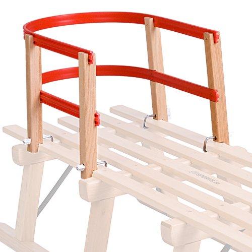 ScSPORTS Kinder Schlittenlehne aus Holz/Kunststoff rot