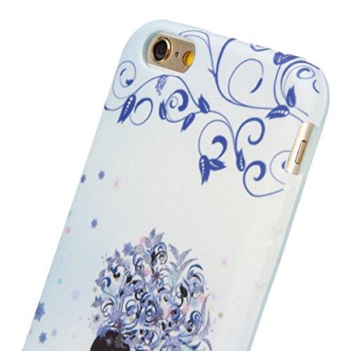 iPhone 6S Hülle, iPhone 6 Hülle, iPhone 6 / 6S Silikon hülle Tasche mit Schwarz Don't Touch My Phone Malerei Muster, SainCat Protective Silikon Hülle Case Tasche Handyhülle [Kratzfeste, Scratch-Resist Blumen-Fee