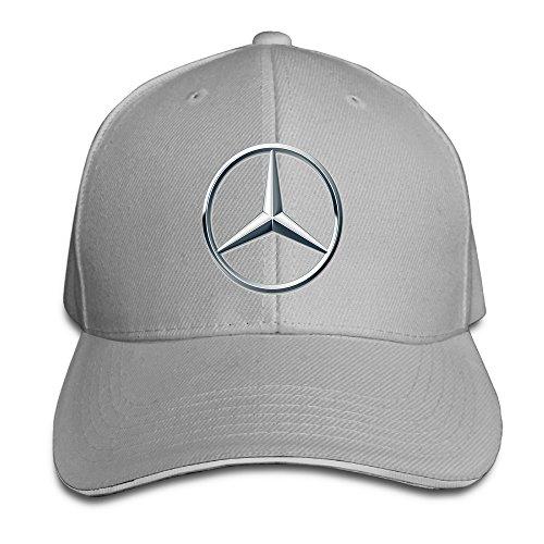 yhsuk-mercedes-benz-logo-sandwich-peaked-hat-cap-ash