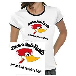 Eddies Autoparts -Knoxville- Jackass Girly Ringer weiss/schwarz, Gr.M