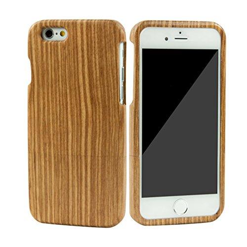 eimo Mano autentico legno naturale legno Caso case shell skin per iPhone 6 4.7''(zebrano)