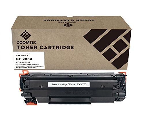 ZOOMTEC 83A CF283A Tonerkassette Kompatibel für HP Laserjet Pro MFP M125 M127fn M127fw M202dw M225dn M225dw M225rdn M202n M201dw M201n (1 Schwarz)