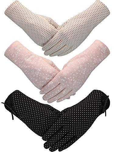 unblock Handschuhe Rutschfeste UV Schutz Fahren Handschuhe Frühling Sommer Outdoor Handschuhe für Damen und Mädchen (Stil C, Farbe 4) ()
