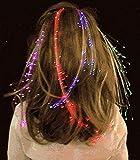10pcs LED luz clip de pelo de extensiones de pelo de fibra óptica para fiesta o Concert