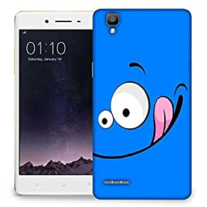 Snoogg Funny Face Inserted Designer Protective Back Case Cover For Oppo F1