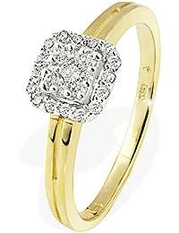 Goldmaid - R3630GG75055 - Bague Femme - Or jaune (18 cts) 2.8 Gr - Diamant - T 54, N