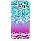 Sannysis für Samsung Galaxy S6 Hülle; Floral Geschnitzte TPU Gehäuse (Farbe)