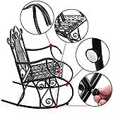 SONGMICS schmiedeeiserner Schaukelstuhl Gartenstuhl Relaxstuhl Eisenstuhl schwarz GRC101B für SONGMICS schmiedeeiserner Schaukelstuhl Gartenstuhl Relaxstuhl Eisenstuhl schwarz GRC101B