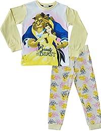 La bella y la Bestia Pijama Niña PJs Ropa de dormir Edades de 2 a 9 años