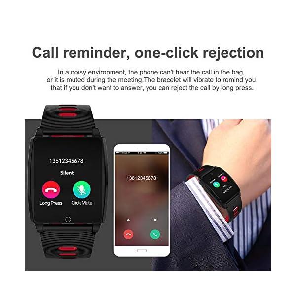 SmartWatch, Padgene Reloj Inteligente IP67 Impermeable Bluetooth Pulsera Actividad Deportiva Múltiples Lenguajes con Pulsómetro Monitor de Sueño, Música, Notificación de Llamada Mensaje para Android e iOS 5