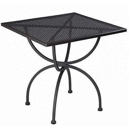 MBM Tisch ROMEO 75x75cm Schmiedeeisen marone-antik Gartenmöbel Gartentisch