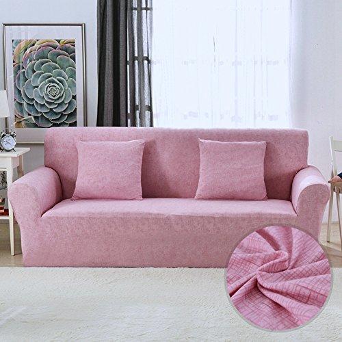 Monba Leinen Stil Sofa Bezug 1 2 3 4 Sitzer Schonbezug Stretch Anti-Rutsch elastische Polyester Couch Cover Loveseat Möbel Protector...