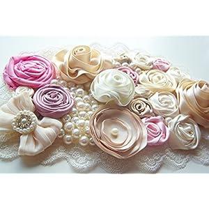 Hüftschmuck romantic roses mit Tüll