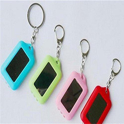 Mini Keychain Portable rechargeable 3 LED Lampe de poche Mini torche lampe solaire Keychain Bague Sports de plein air Accessoires, 5 pièces