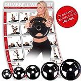 POWRX Olympia Hantelscheiben 2er Set | gummierte Gewichte für Langhanteln | Verschiedene Gewichtsvarianten 2,5-20 kg | Lochdurchmesser 51 mm (2 x 10 kg)