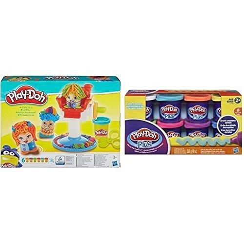 Play Doh - Pâte à Modeler - Le Coiffeur + 8 Pots Plus