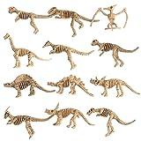 MagiDeal 12 Pièces Modèle Dinosaures Squelette Simulation En Plastique Figurines...