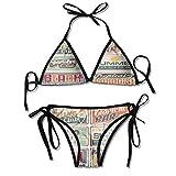 Photo de Removable Strap Wrap Bikini,Beach Sign Boards in Sexy Bikini 2 Pieces par HLKPE