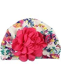 acfada8f3142 BZLine Bébé Coton Bonnet Turban, Mignon Chapeau de Fleur Bébé garçon Fille  Hiver Bonnet Chaud